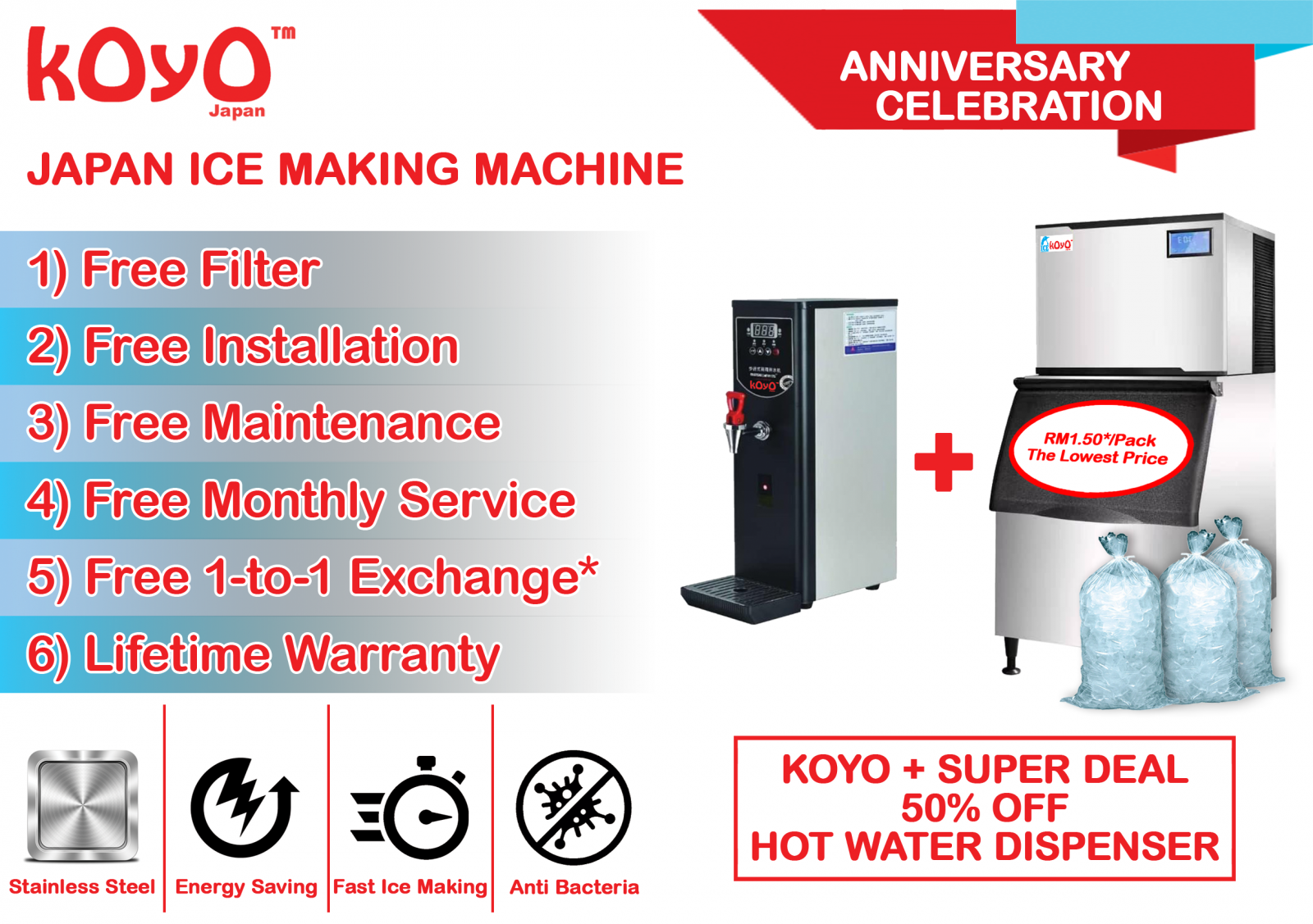 Koyo Ice MAker Machine Promotion