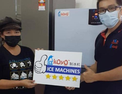 Thanks to Customer in Sabah Using Koyo Ice Cube Maker Machine