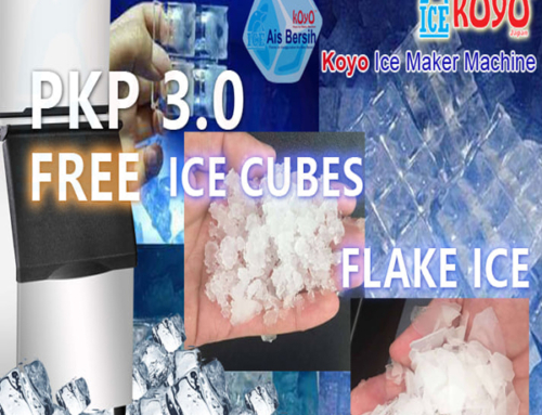 FMCO Good News For F&B FreshMart – FREE IceMachine to use – FREE Clean Ice Cubes to use – Koyo Ice Maker Machine